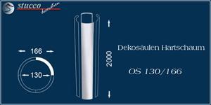 Glatter Säulenschaft für Dekosäule aus Styropor OS 130-166